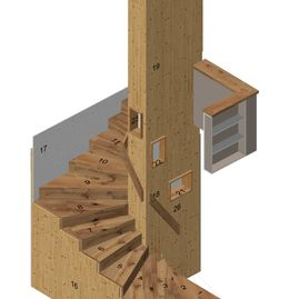 3D Planung Treppe